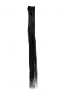 1 CLIP Extension Strähne glatt Schwarz YZF-P1S18-2 45cm Haarverlängerung