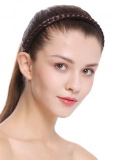 Haarband Haarreif geflochten Tracht traditionell mattes braun braid CXT-004-035