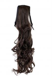 Zopf Haarteil Haarverlängerung Extension Braun wellig 63 cm YZF-1094HT-6