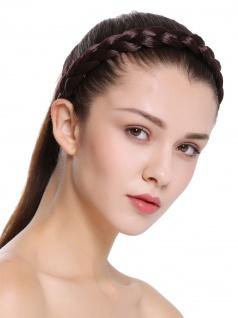 Haarband Haarreif geflochten traditionell sehr breit braun braid CXT-005-035