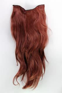 Haarteil, 7 Klammern, Halbperücke, rot, rotbraun, Länge: ca. 60 cm, H9505-35