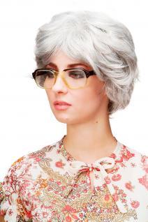 Damenperücke Perücke wild & voluminös auftoupiert grau silbergrau TYW60286-51