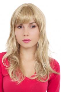 Perücke Damen lang blond platinblond gesträhnt wellig Pony 50 cm GFW242-24H613