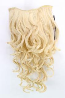 Clip-in Haarteil mit 7 Klammern, 3/4 Perücke, blond, Länge: ca. 50 cm, H9503-611