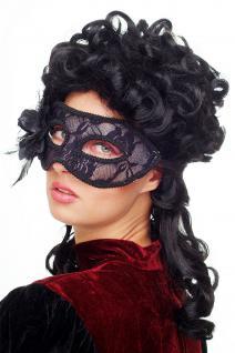 Karneval Venezianische Maske Halbmaske Domino Schwarz Maskenball Gothic LS-004 - Vorschau 2