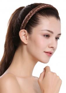 Haarband Haarreif geflochten Tracht traditionell hellbraun braid CXT-001-010