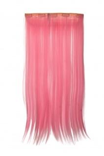 Haarteil Extension breit Haarverlängerung 5 Clips glatt Hellrosa YZF-3177-TF2317