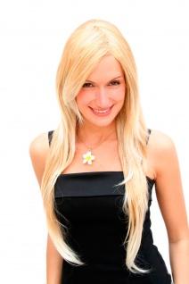 Perücke Damenperücke sehr lang Blond Mix gestuft glatt Scheitel 75cm 3110-27T613