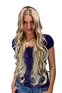 Perücke, Wig, BLOND Mix, sehr lang, gelockt, Scheitel, Haarersatz, 80 cm, MC011-27T613