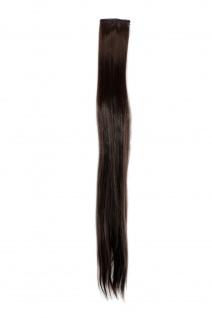 2 Clips Extension Strähne glatt Braun YZF-P2S25-6 65cm Haarverlängerung