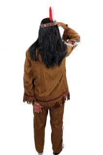 Kostüm Herren Herrenkostüm Indianer Häuptling Apache Sioux Cowboy L030 - Vorschau 4