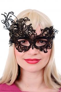 Maske Halbmaske Augenmaske Venedig Vampir Gothic Victorian Schwarz Spitze AE005A