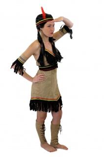 Tolles Set: Kostüm Damen Damenkostüm Indianerin Indianerfrau L019 XS S M L