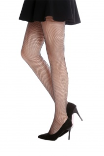 Netz-Strumpfhose Pantyhose Damenkostüm Karneval Halloween schwarz S/M W-020B