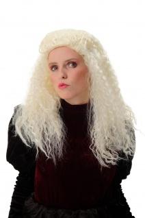 Damenperücke Karneval Halloween lang Krepplocken lockig Hellblond Tolle Volumen