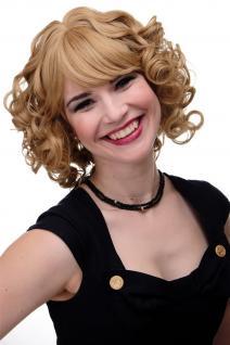 Bezaubernde Perücke Cosplay Märchen Prinzessin schulterlang lockig Blond GFW2171
