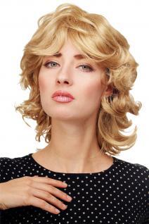 Tolle Damenperücke Perücke wellig voluminös mittellang Goldblond blond 81437-24