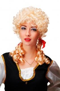 Perücke Karneval Barock Blond Locken Zöpfe Marie Antoinette Cosplay Gothic 3048