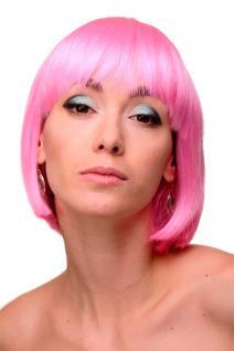 Qualitätsperücke Damenperücke Perücke Bob Page Pony zart Pink Sexy Glam GFW248F