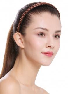 Haarband Haarreif geflochten Tracht traditionell rotbraun braid CXT-004-033