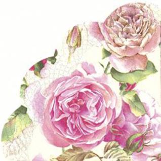 Tea Rose white Rondo Serviette von IHR