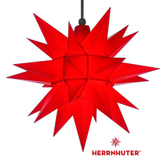 40cm Roter Stern Set mit 5m Kabel, Abdeckung und Leuchtmittel LED Herrnhuter