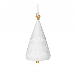 Klingglöckchen Jingle Bells gold Weihnachtszauber 8cm Räder Design