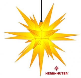 68cm Gelber Stern Set mit 10m Kabel, Abdeckung und LED Leuchtmittel Herrnhuter