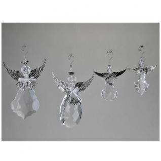 Acryl Engel mit Silber hängend 14cm Formano
