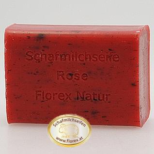 Rose mit Blüten Florex Schafmilchseife 100g