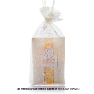 Geschenksäckchen Organza creme bestickt für Duftsachets