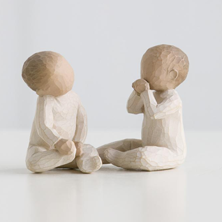 Zwei Gemeinsam Two Together Figur von Willow Tree
