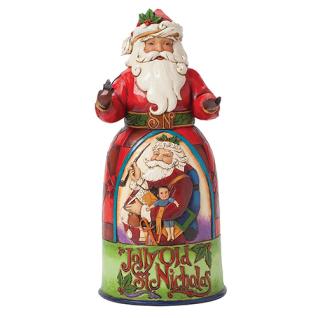 Santa Jolly Old St. Nicholas Weihnachtsmannfigur 25, 5cm Jim Shore
