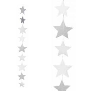 Sternenkette transparent blanko 100 cm X-mas Räder Design