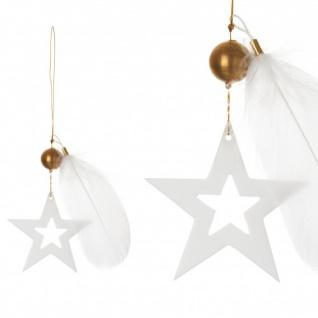Goldsterne weiß/gold 12cm hängend Weihnachtszauber von Räder Design