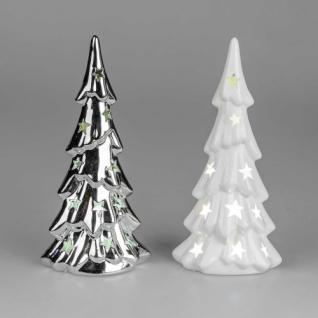 Tannenbaum mit LED Porzellan sortiert 19cm
