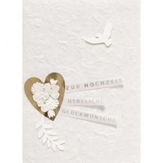 Hochzeit Taube Karte Räder Design