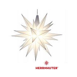 13cm Weißer Stern LED Set und Netzgerät original Herrnhuter