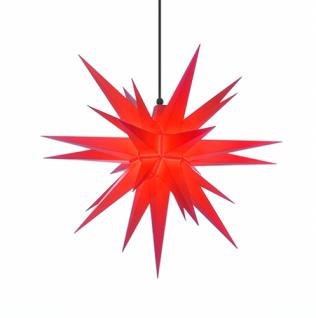 68cm Roter Stern Set mit 10m Kabel, Abdeckung und LED Leuchtmittel Herrnhuter