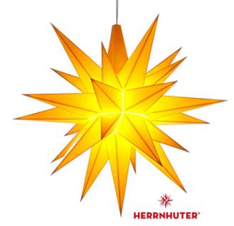 13cm Gelber Stern LED Set und Netzgerät original Herrnhuter