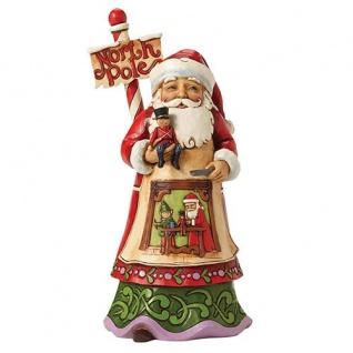 Santa North Pole Weihnachtsmannfigur 23cm Jim Shore