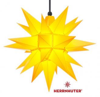 40cm Gelber Stern Set mit Kabel 10m, Abdeckung und Leuchtmittel Herrnhuter
