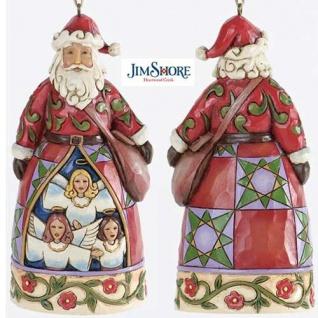 Santa Hark the Herald zum Aufhängen Weihnachtsmannfigur von Jim Shore