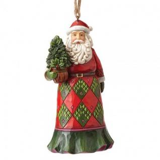 Santa Evergreen Hanging ornament Weihnachtsmannfigur 11, 5cm Jim Shore