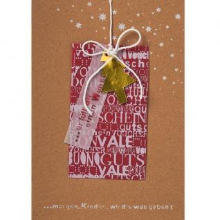 Weihnachtskarte Gutschein Tanne von Räder Design
