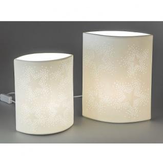 Lampe Stimmungslicht oval Sterndesign mittel 18x23cm