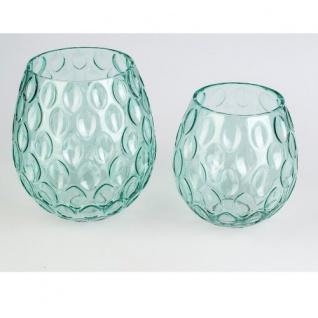 Teelicht grün Glas 17cm