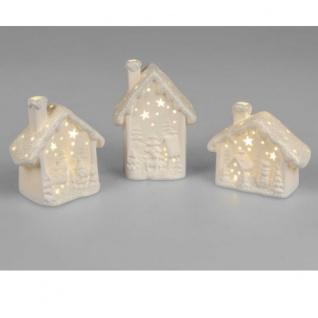 Winterhaus LED Licht Porzellan 10cm sortiert