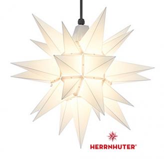 40cm Weißer Stern Set mit 10m Kabel, Abdeckung und LED Leuchtmittel Herrnhuter