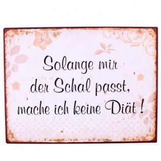 Wandbild Schal Diät 26x35cm
